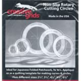Creative Grids NON-SLIP - Rotary Cutting Circles: 5-piece Template Set (CGRCRCL)