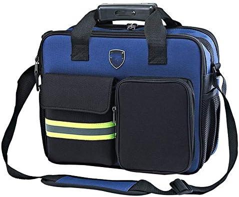 ツールバッグ 反射ストライプ工具収納ハンドバッグ多機能テクニシャンバッグ 工具収納便利 (Color : Blue, Size : One size)