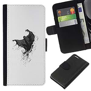 All Phone Most Case / Oferta Especial Cáscara Funda de cuero Monedero Cubierta de proteccion Caso / Wallet Case for Apple Iphone 5C // Ghost Grim Reaper Death Skeleton