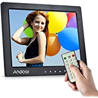 Digital Picture Frame, Andoer 10 inch LED Digital Photo Frame 1080P HD Resolution Desktop Display Image MP4 Video Support Auto Play with Infrared Remote Control Christmas Valentines Gift Present