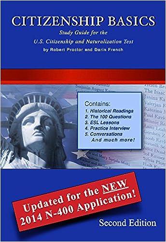 Citizenship Basics Textbook and Audio CD U.S. Naturalization Test ...