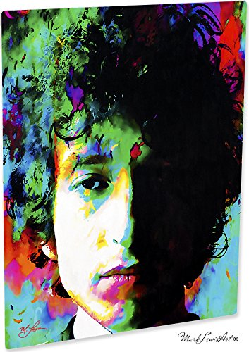 Inimitable Bob Dylan art prints wall decor painting artwork by Mark Lewis Art - nm signed (Bob Dylan Signed)