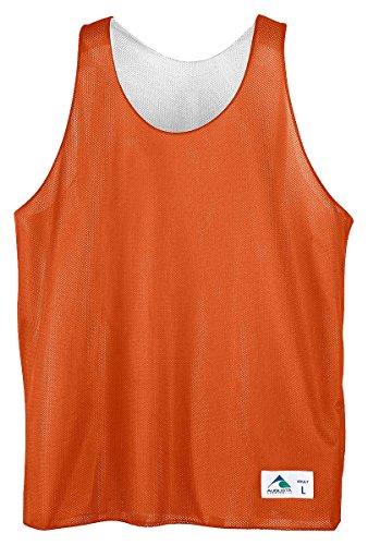 Augusta Sportswear Reversible Mini Mesh League Tank, Orange White, XXX-Large by Augusta Sportswear