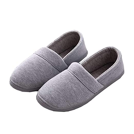 4337d8c84 Amazon.com  Women House Slipper Comfortable Cotton Knit Booties Slip-On  Loafer Home Shoes  Clothing