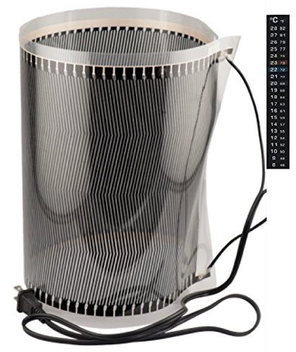 - Porpoise Brewing Fermentation Heater Wrap with Thermometer Strip