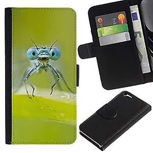 All Phone Most Case / Oferta Especial Cáscara Funda de cuero Monedero Cubierta de proteccion Caso / Wallet Case for Apple Iphone 6 // Green Insect