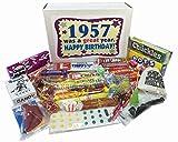 1957 Retro Nostalgic Candy Decade 60th Birthday Gift Basket Box - 60 Years Old - 50s Jr