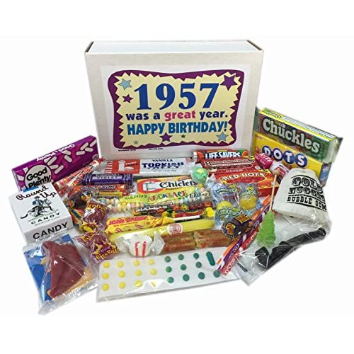 1957 Retro Nostalgic Candy Decade 60th Birthday Gift Box