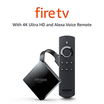 Certified Refurbished Fire TV with 4K Ultra HD and Alexa Voice Remote  (Pendant Design) | Streaming Media Player