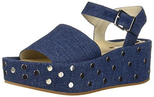 Kenneth Cole New York Women's Danton Studs Platform Sandal, Blue Denim, 7.5 M US