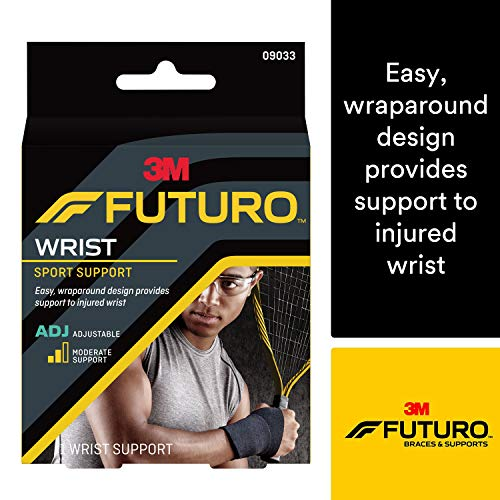 (Futuro Sport Adjustable Wrist Support, Helps Relieve Symptoms of Wrist Sprains, Moderate Support)
