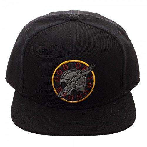 Thor Ragnarok God of Thunder Logo Black Snapback Hat
