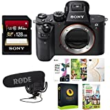 Sony Alpha a7RII Mirrorless Digital Camera (Body Only) + Rode VideoMic Pro VMP with Rycote Lyre Shockmount + Sony 64GB Memory Card + Digital Treasures Creative & Office Software Suite for PC