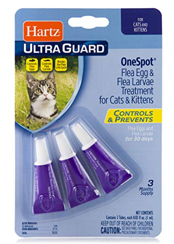Hartz UltraGuard One Spot Flea Egg Treatment For Cats, 0.03
