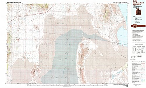 - YellowMaps Newfoundland Mountains UT topo map, 1:100000 Scale, 30 X 60 Minute, Historical, 1988, Updated 1989, 24.1 x 39.9 in - Tyvek