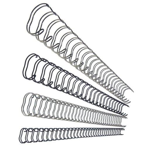 Leitz 27713 Drahtbinderücken, A4, 10 mm, 75 Blatt, 100 Stück, silber 100 Stück Esselte Leitz