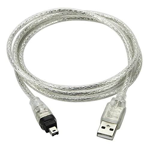 CY 100cm USB Male to Firewire IEEE 1394 4Pin Male iLink Adapter Cord Cable for DCR-TRV75E DV