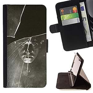 Momo Phone Case / Flip Funda de Cuero Case Cover - Negro Blanco vintage retro de la foto - Samsung Galaxy J3 GSM-J300
