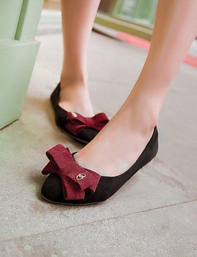 Noir-us8   eu39   uk6   cn39 PDX femme Chaussures Talon Plat Bout Pointu Chaussures plates décontracté Noir bleu rouge