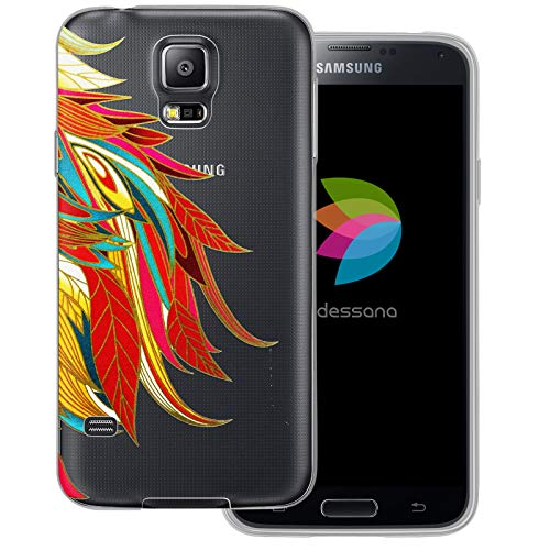 dessana Abstract Modern Transparent Protective Case Phone Cover for Samsung Galaxy S5/Neo Wing Swinging
