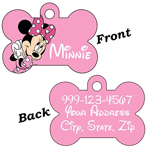 uDesignUSA Disney Double Sided Pet Id Tags for Dogs & Cats Personalized for Your Pet (Minnie Mouse, Bone Shaped) by uDesignUSA