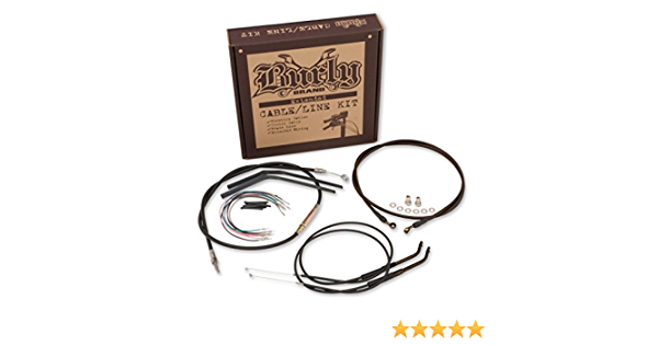 Stainless Braid B30-1049 Ape Hangers Progressive Suspension Cable and Brake Line Kit for 14in