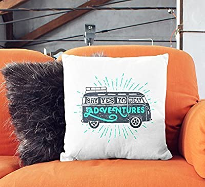 Road trip pillowcase adventure lover fun throw pillow case glider cushion cover outdoor decorative pillowcase home décor modern throw pillow cover patio pillowcase christmas gift
