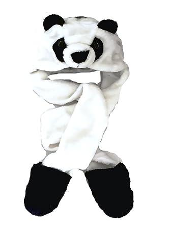 Viz bonnet de trappeur en fausse fourrure animal tête pour enfant capuche écharpe snood gants ours