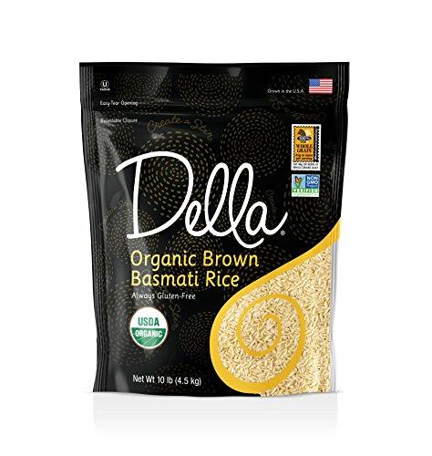 Della Rice Organic Basmati Brown Rice 10lb Bag