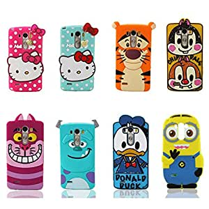TopOne 3D Cute Cartoon Soft Silicone Back Design Rubber Case Cover for LG Smart Phone bule sulley For LG G3 D855 D850