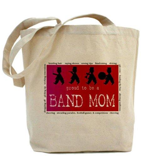 Cafepress–Band MOM–Borsa di tela naturale, tessuto in iuta