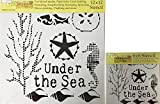 The Crafter's Workshop Set of 2 Nautical Stencils – Under The Sea 12x12 Large and 6x6 inch Mini - Includes 1 each TCW709 and TCW709s - Bundle 2 Items
