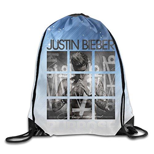 Namii Justin Bieber Purpose Tours Sports Bag Sack Bag White Size One Size (American Girl Doll Beth)