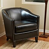 Carlton | Leather Club Chair | in Black