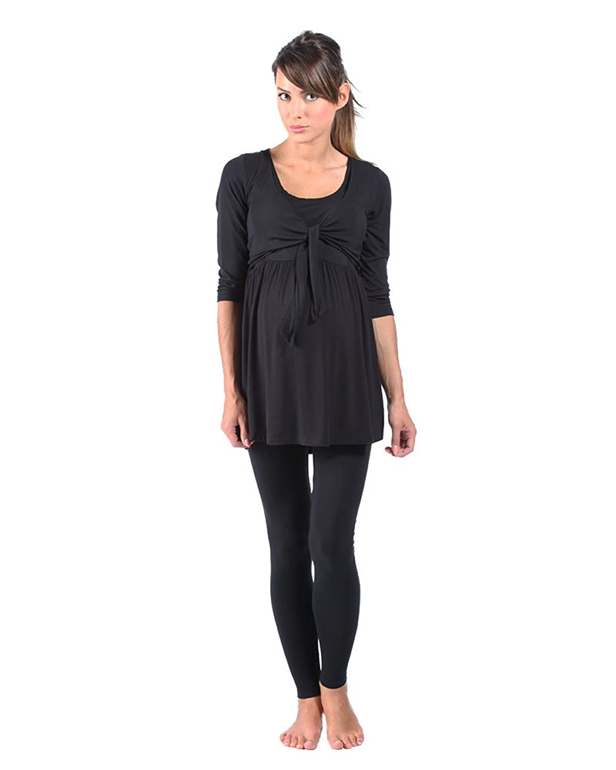 The Essential One - 3/4 Sleeve tie front Nursing top