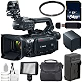 Canon XF400 Camcorder 2213C002 + 64GB Memory Card + BP-820 Replacement Lithium Ion Battery + 58mm UV Filter + Carrying Case Bundle