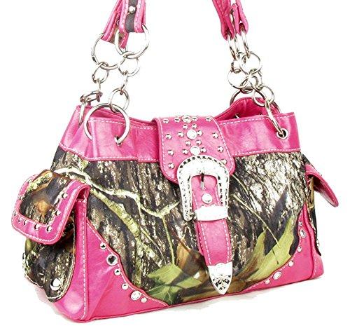 Camouflage Buckle (Western Belt Buckle Purse Camouflage Camo Handbag)