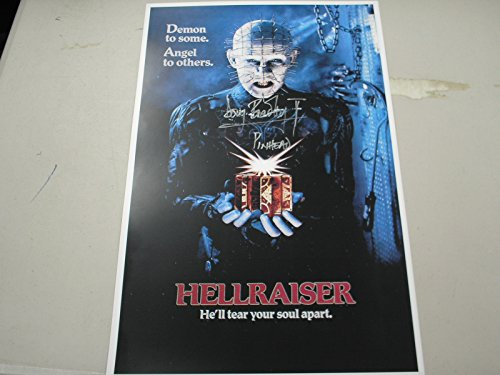 DOUG BRADLEY Signed Pinhead 11x17 Movie Poster Autograph Hellraiser
