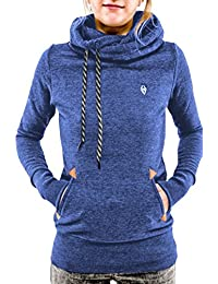 Cutiefox Women's Pullover Hoodie Funnel Neck Pocket Long Sleeve Hooded Sweatshirt