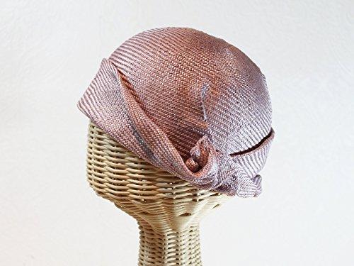 Vintage Inspired Women's Rose Straw Flapper Cloche in Lavender by Bonnet