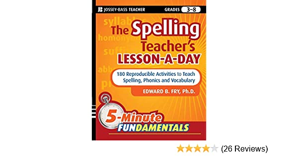 John Wiley And Sons The Spelling Teacher S Lesson A Day Paperback