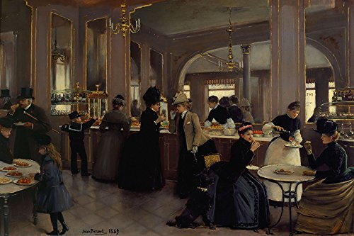 LA Patisserie GLOPPE French Shop Pastries Cakes 1889 Painting by Jean BERAUD 16