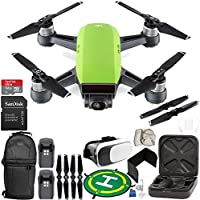 DJI Spark Portable Mini Drone Quadcopter (Meadow Green) EVERYTHING YOU NEED Essential Bundle