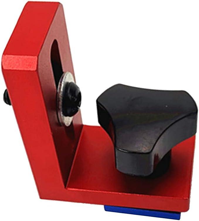 Sunneey T-Track Mitre Menuiserie Rail /à Onglet Mitre Rapide Pince Outils Mitre de Protection Durable T-Slot T-Pistes en Utilisation Kit de Poign/ée Rapide pour 30mm T-Piste Main