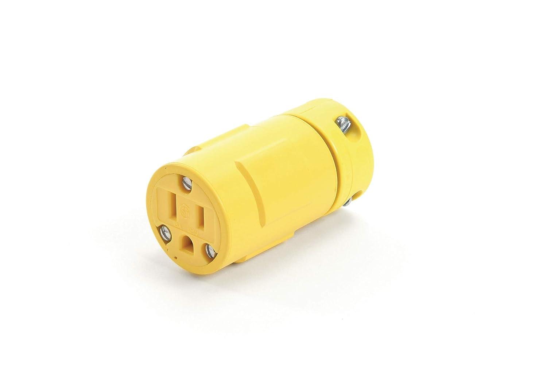 2 Pole//3 Wire Woodhead 1533 Super Safeway Connector Industrial Wiring Device NEMA 5-20 Configuration Circular Connector