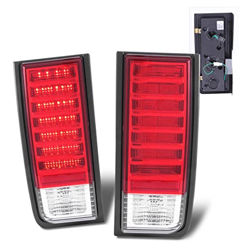 SPPC Red/Clear LED Tail Lights Assembly Set For Hummer H2 - (Pair) Driver Left and Passenger Right Side Replacement ()