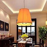 GUO Gzz Deng Home Outdoor Lighting Pendant Light Shade Industrial Hanging Ceiling Lamp Chandelier Fabrics 35X35Cm Living Room Restaurant Bedroom Lighting