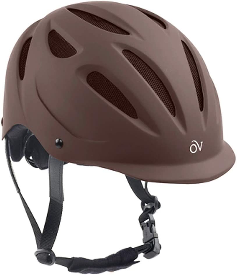 Ovation Women's Protege Riding Helmet, Brown Matte, Large/X-Large