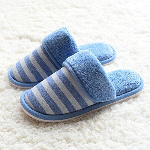 Fankou autunno inverno cotone pantofole comode le coppie caldo cotone pantofole home pantofole uomini antiscivolo pantofole di cotone inverno ,37/38, rosa