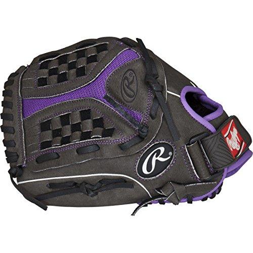 Rawlings 社製 ソフトボール用グローブ Storm Youth シリーズ B01GU9N2LS Grey Purple 12|Worn on Left Hand Grey Purple 12